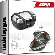 GIVI TOP CASE BLACK TRK52N + VALISES LATERALES V37N HONDA CB 500 X 2017 17
