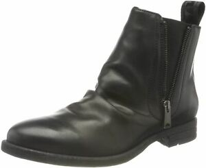 Replay Carron Black Mens Leather Chelsea Boots