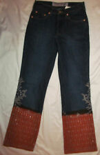 PARASUCO  beaded sequined embroidered floral ethnic gypsy hippie jeans 28   **