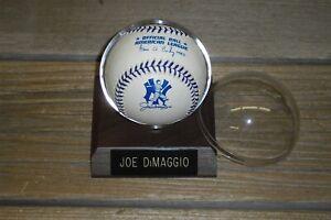 Joe DiMaggio Official Major League Rawlings AL Baseball/Holder - September 1998