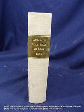 Lyon 1824 Almanach ville de Métier organisation population histoire locale rhone