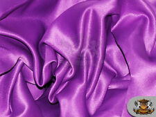 "Satin L'amour Solid Fabric BARNEY / 60"" Wide / Sold by the yard"