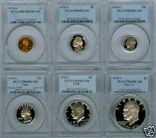1976-S SIX COIN BICENTENNIAL PROOF SET PCGS DCAM
