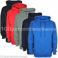 Unisex Plain Hooded Top Hoodie Hoody Sweatshirt Work Wear Club Sport Skate Board