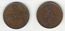 2 Pfennig 1863 B Hannover Georg V. Welter 3201 AKS 153 Jg. 91 Knigge- Randfehler