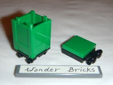 Lego Recycle Container Green w/ Lid 4206 Box Garbage Trash Can