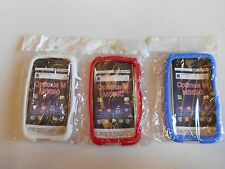 (LOT OF 3) NEW Silicone SOFT Case  RED WHITE and BLUE for LG Optimus M MS690