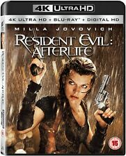 RESIDENT EVIL :AFTERLIFE- BLU RAY (4K Ultra HD UHD) + SLIP COVER* New & Sealed *