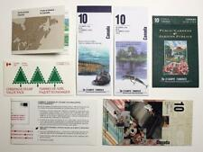 Canada 7 livrets. Rivers, Gardens, Forts, CHRISTMAS, Textiles. 1980's 90's Neuf sans charnière