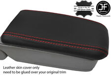 RED STITCH REAL LEATHER ARMREST LID COVER FITS SUBARU FORESTER SG9 2006-2008