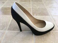 """WOMENS WITTNER """" ARLEY"""" HIGH HEEL SHOES, SIZE 39  BLACK/WHITE LEATHER #1527"""