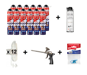 POLYNOR PRO 750ml spray polyurethane insulation 28pcs set, camper, van, attic