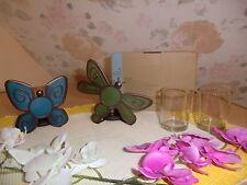 Partylite Votivkerzenhalter Schmetterling & Libelle Paar P91564 NEU / OVP