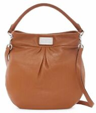 NWT MARC JACOBS Classic Hillier Leather Hobo Shoulder Bag SADDLE BROWN AUTHENTIC