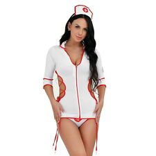 Sexy-Women-Girl Nurse Uniforms Fancy Dress Halloween Outfit Set Cosplay Lingerie