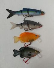 (4) Storm Jointed Swimbait Crankbait Fishing Lures Lot of 4