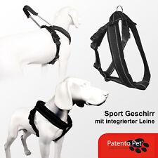 PatentoPet Geschirr M Sport Schwarz neues Gefühl von Freiheit & Komfort