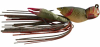 """LIVETARGET Hollow Body Craw 3/4 """"Brown Red"""""""