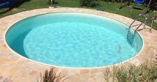 Pool Set Rundpool rund Folie sand Schwimmbecken Stahlwand komplett inkl. Zubehör
