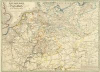 Post-Reise-Karte Deutschland 1828 - Historische Karte (Reprint)