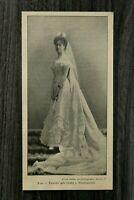 1 Blatt 1900 Frau v Pawelcz geb Gräfin v Wachtmeister Adel Monarchie Kleid Mode