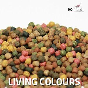 Koifutter 10 Sorten Mix 2,5 - 10 kg Living Colours 3 mm 6 mm Spirulina Teich