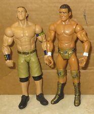 John Cena & Alberto Del Rio USED/PLAYED WITH Mattel Basic Figure Lot WWF WWE