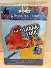 Finding Dory Postcard Thank You Cards (8 Count) NEW