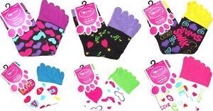 Toe Socks Women Size 9-11 Girls White Black New Focus Lot of 6 New