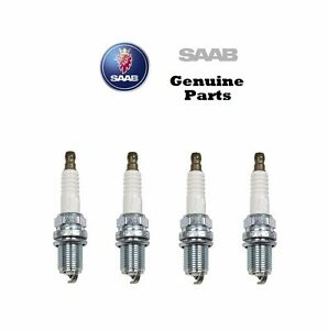 Set of 4 For Saab 9 3 2003 2004 2005 2006 2007 2008 Spark Plugs Genuine 12787099
