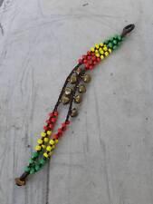 Handmade Bracelet Women Girl Jingle Bell Rasta Beads Bracelet Hippie Surfer Boho