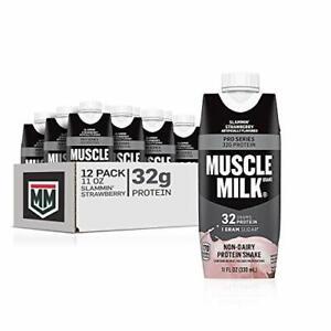 Muscle Milk Pro Series Protein Shake 32g Protein Slammin' Strawberry 11 Fl Oz...