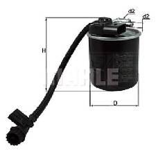 MAHLE Inline Fuel Filter - KL947 - Fits Mercedes Benz V200 series & Vito 114