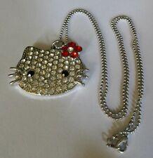 Large Kitty Pendant on Bead Chain