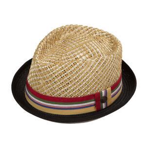Nico Men's Women's Summer Retro Dapper Brown Natural Straw Porkpie Pork Pie Hat