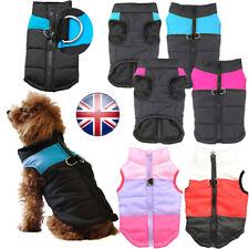 Waterproof Pet Dog Puppy Vest Jacket Warm Winter Clothes Outdoor Padded Coat UK