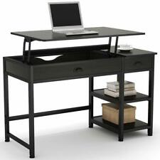 Writing Desk Home Office Lift Top PC Table Workstation with 2 Drawers & Shelves