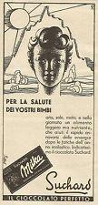 W3243 Cioccolato SUCHARD per la salute dei vostri bimbi - Pubblicità 1935 - Adv.