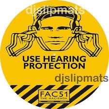 """PAIR (2) Fac51 HACIENDA nightclub 12"""" or 7"""" DJ SLIPMATS slipmat acid house rave"""