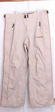Oakley Software RN# 96548 CA# 35460 Beige Zip Snap Snowboarding Pants Men's S