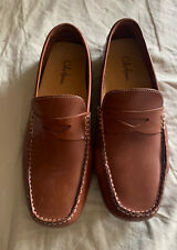 Cole Haan Brown Leather Casual Moc Toe Slip On Driving Loafers Shoes Men's 9.5 M