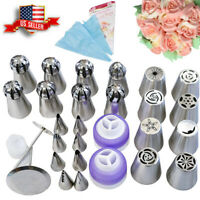 Cake Icing Piping Nozzles Baking Tools Russian Tulip Flower Decorating Tips Set
