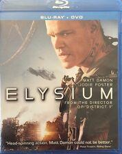 ELYSIUM NEW BLU RAY + DVD MOVIE 2-DISC FILM MATT DAMON JODIE FOSTER DISTRICT 9
