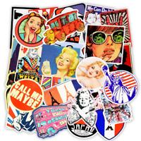 Retro Vintage Sticker Bomb Pack Marilyn Monroe Skateboard Laptop Car Vinyl Decal