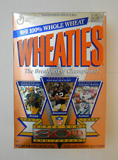 Wheaties Nfl Cereal Box, Super bowl 30th anniversary 1995 18oz Full