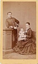CDV Soldier Wife & Baby Schroeder of Dublin 1870s