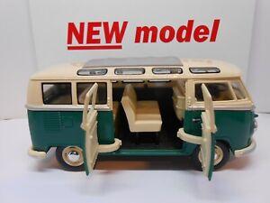 TOY CAR 1/24 scale VW CREW BUS CAMPER VAN MODEL BOY GIRL DAD MOM BIRTHDAY GIFT