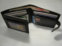 Gents Soft Leather Wallet with 14 Card Slots Paper Money Space Back Zip RFID