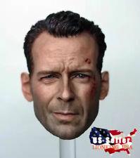 "1/6 Bruce Willis Head Sculpt John McClane Die Hard Bashing For 12"" Figure ❶USA❶"
