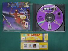 3DO Real Road Rash. included spine card & postcard. JAPAN GAME. Panasonic. 14399